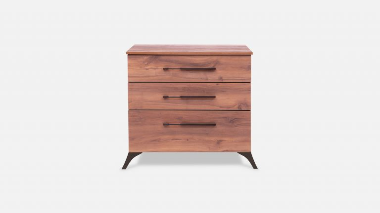 Wooden dresser with built-in table extension and two drawers
