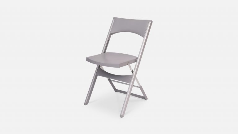 Grey foldable aluminum chair
